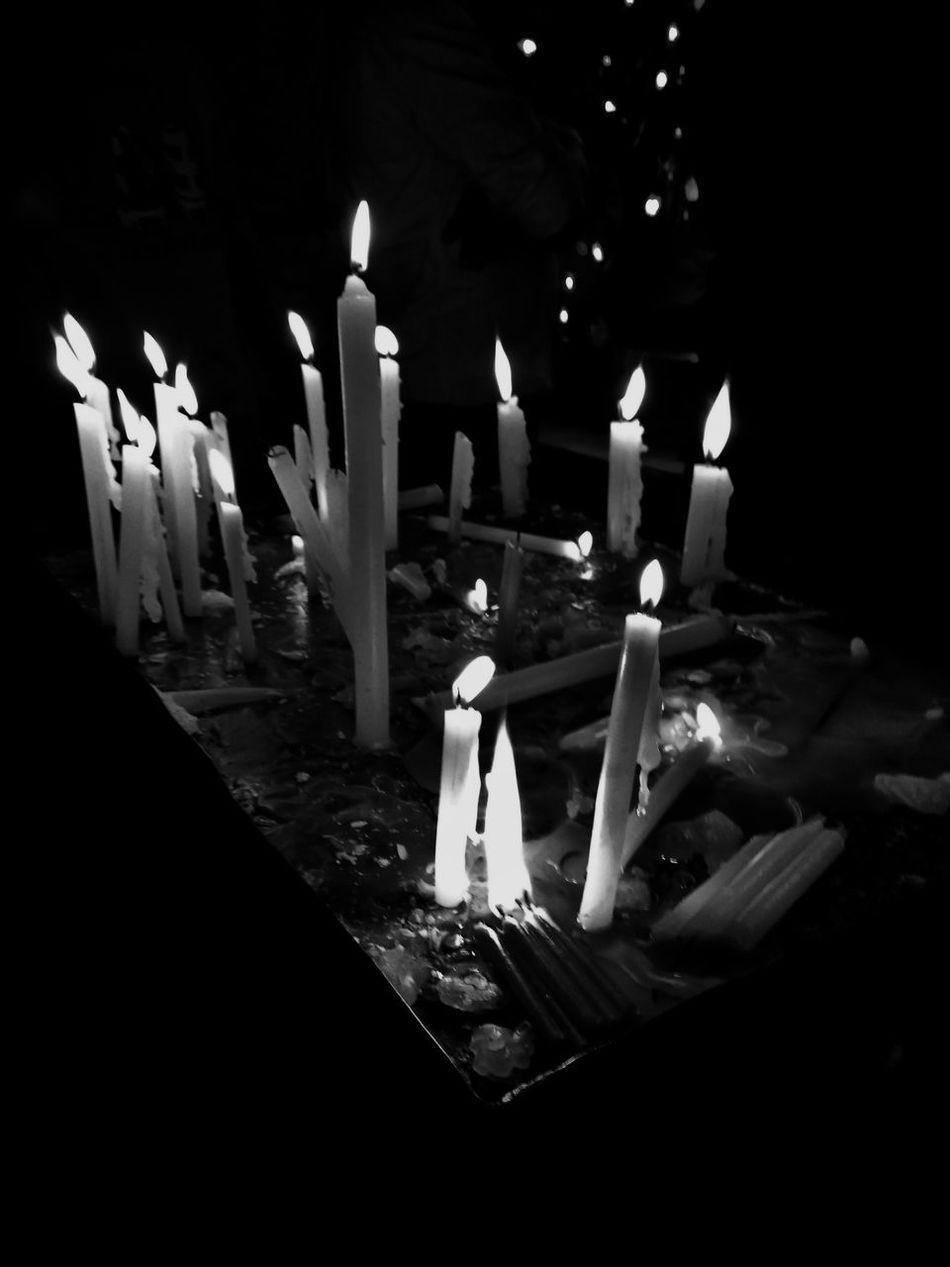 Burning... Candle Burning Flame Night No People Mobilephotography Streetphotography Best  Lifestyles EyeEmNewHere Photography Kerala India Rural Scene Refresh Blackandwhite Light Up Your Life Light cool Resist Resist EyeEmNewHere