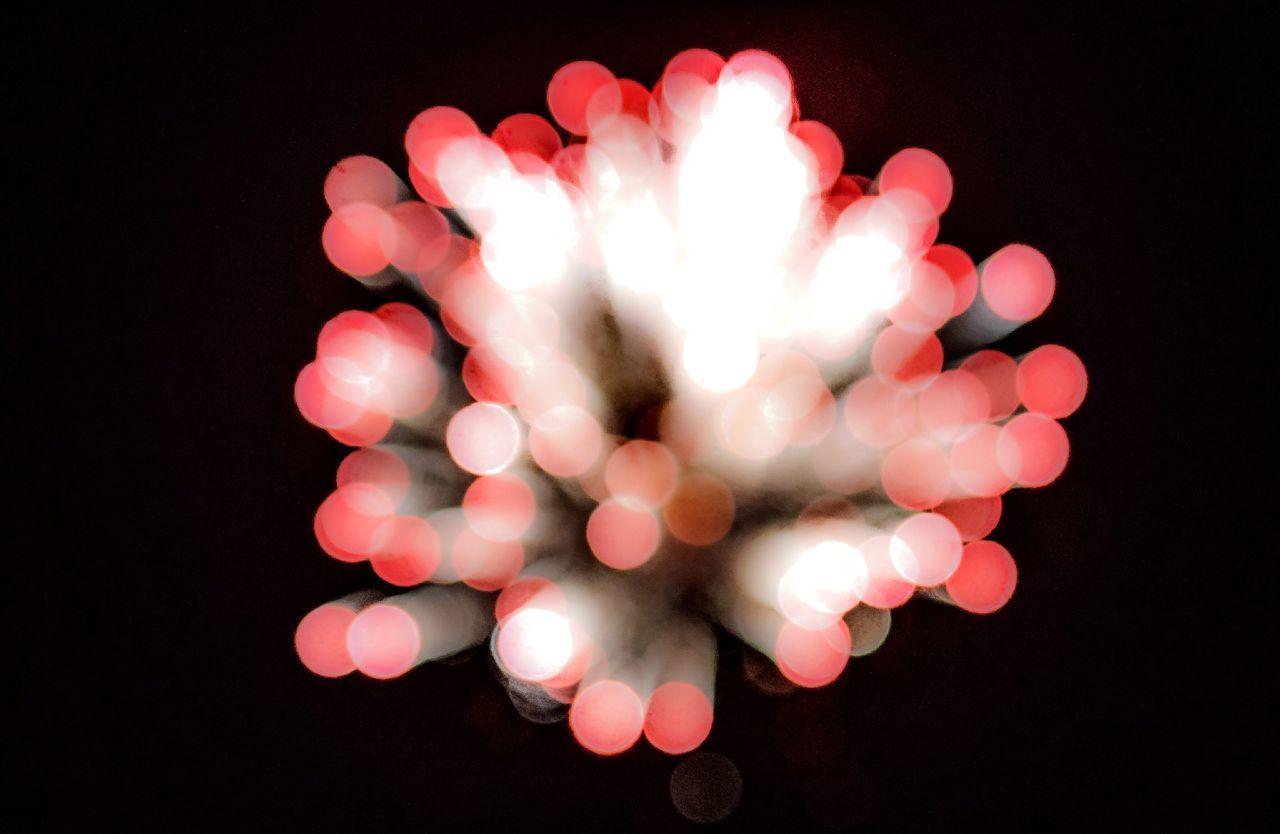 illuminated, night, black background, celebration, no people, defocused, studio shot, christmas, close-up, outdoors
