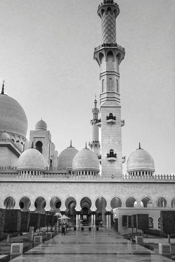 The Grand Mosque Mosque Grand Sheikh Zayed Grand Mosque Day Blackandwhite Black And White Travel Destinations Architecture Dome Religion History Business Finance And Industry Built Structure Day Outdoors No People Sky