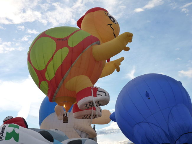 Balloon Flying Fun Hot Air Balloon Multi Colored Sky Turtle Balloonfiesta