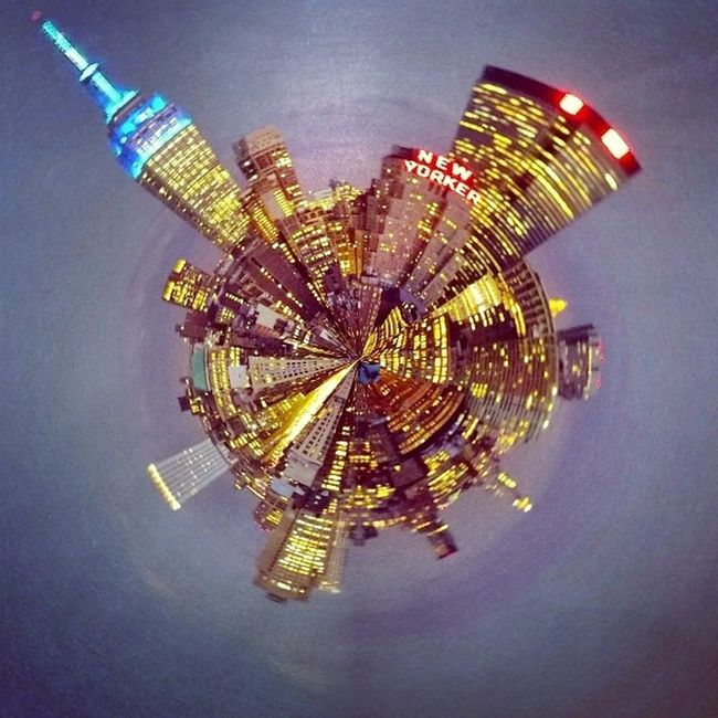 Insane NYC skyline made exponentially Awesome -er by my new Tinyplanets app!! ^_^ Lumia1020photography lumia1020 iHeartNY