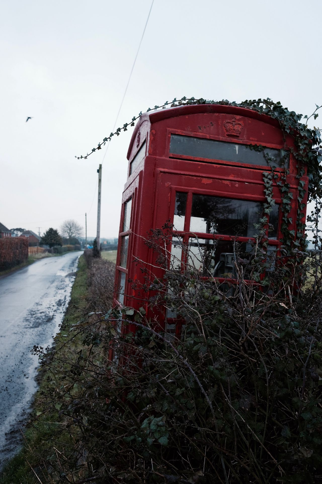 Red Built Structure Sky Outdoors Nature Day No People Phone Box Phone Booth Phone Nature Telephone Booth Red Telephone Box England Countryside