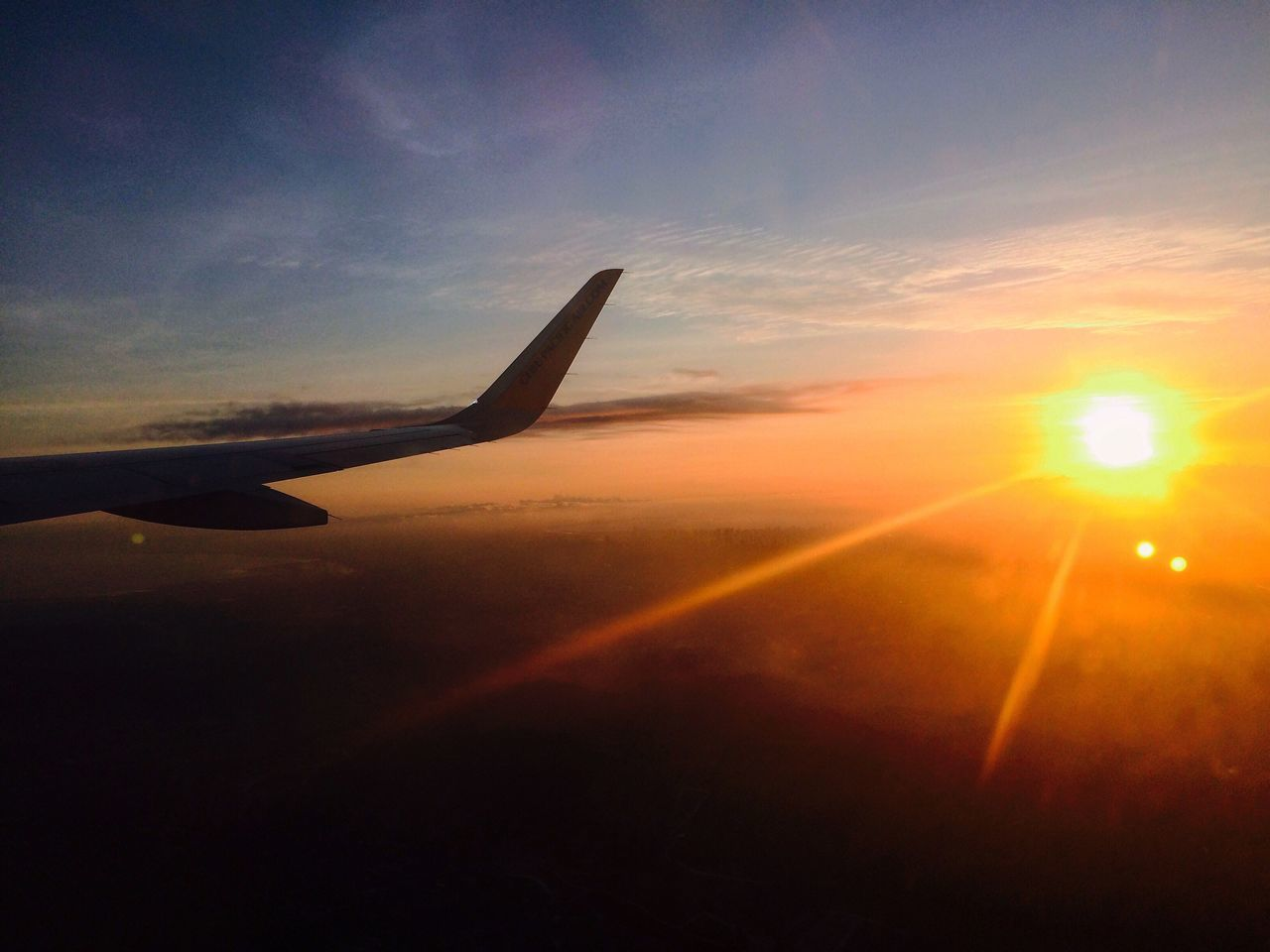 Iphonephotography Airplane Transportation Sunset Sky Airplane Wing Flying Journey Aircraft Wing Day Iphonesia IPhoneography Philippines