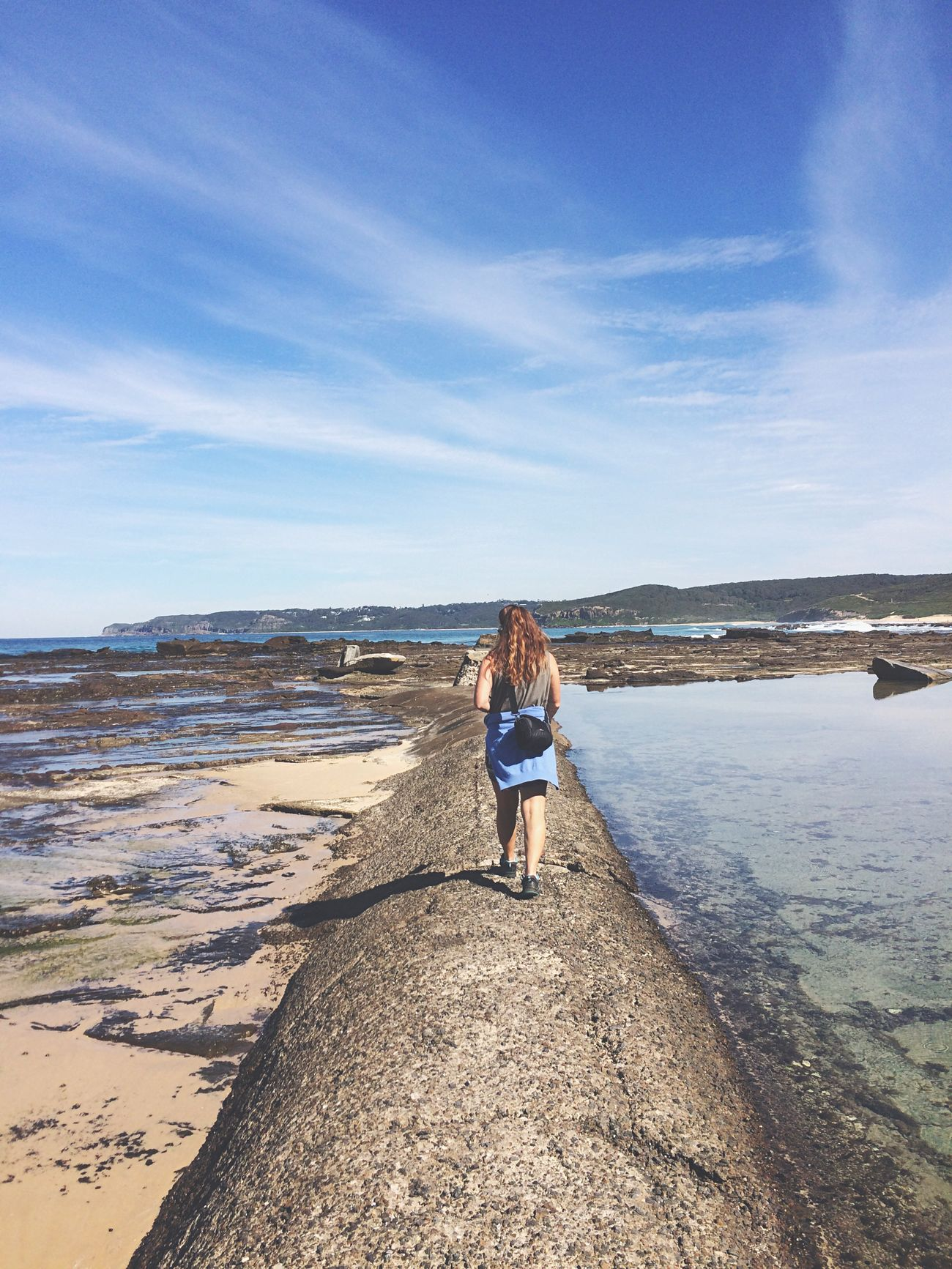 Finding New Frontiers thanks for letting me explore with you Em, have a wonderful Christmas 🎄 Rear View Sea Beach One Person Real People Sky Full Length Nature Scenics Lifestyles Water Beauty In Nature Day Leisure Activity Outdoors Tranquility Sand Wave Sister Traveler Backpacking Australia Newcastle Somewhere New