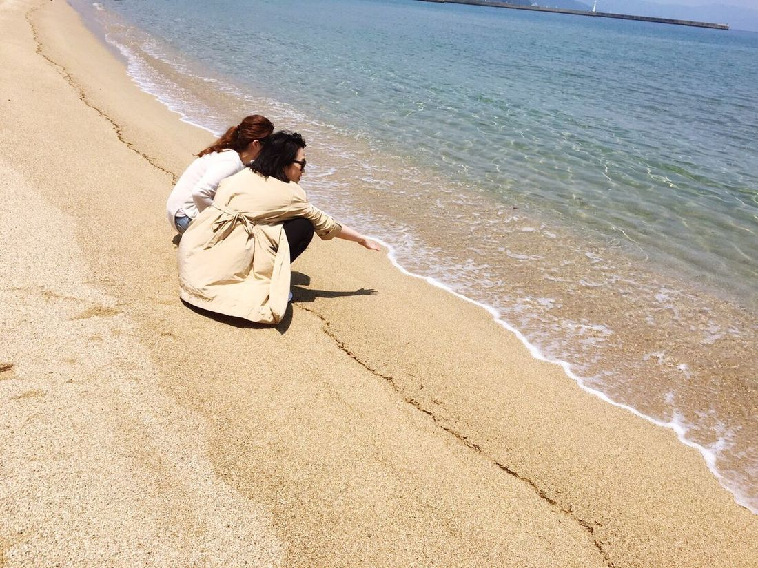 Sister Sisters Sea Seaside Awaji Trip Trip Photo Love