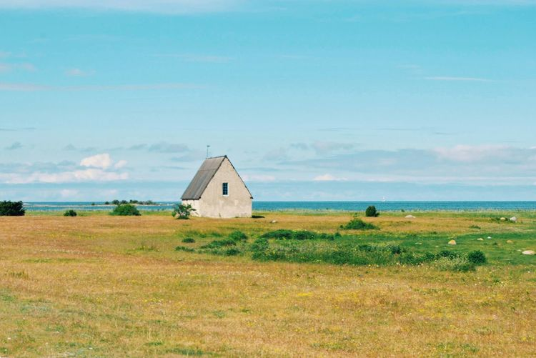 My Best Photo 2015 Summer2015 Sea Chapel Tranquility Country Side Country Life Gotland Country Living Summer In Sweden Beautiful Nature Beautiful Day Flowers, Nature And Beauty Summerdays  Summertime Summer Vibes Summer Sea And Sky Ocean Church Landscapes With WhiteWall Scenics Scenery Nature_collection Nature