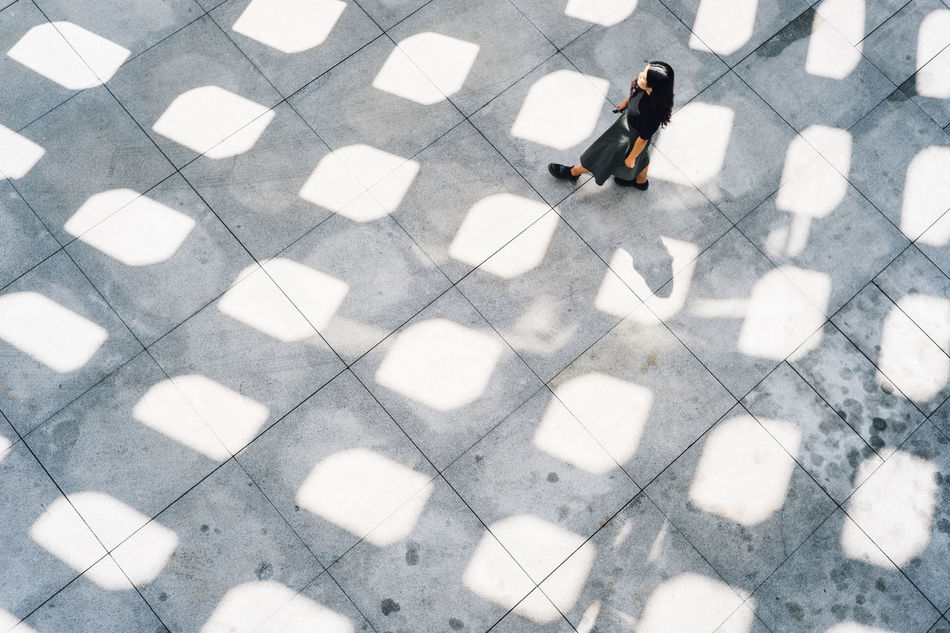 Day Full Length High Angle View Lifestyles Light And Shadow Lights And Shadows Minimal Minimalism Minimalist Architecture Minimalobsession One Person Outdoors Pattern Patterns Patterns & Textures People Real People Strideby The City Light
