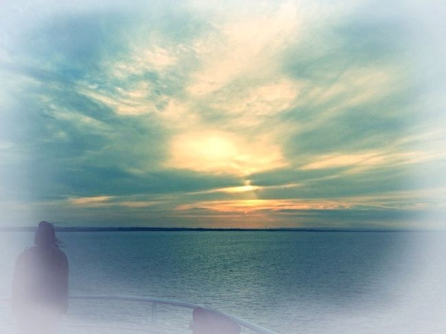Sea Ghostly Boating Sea Life Sunset Silhouettes
