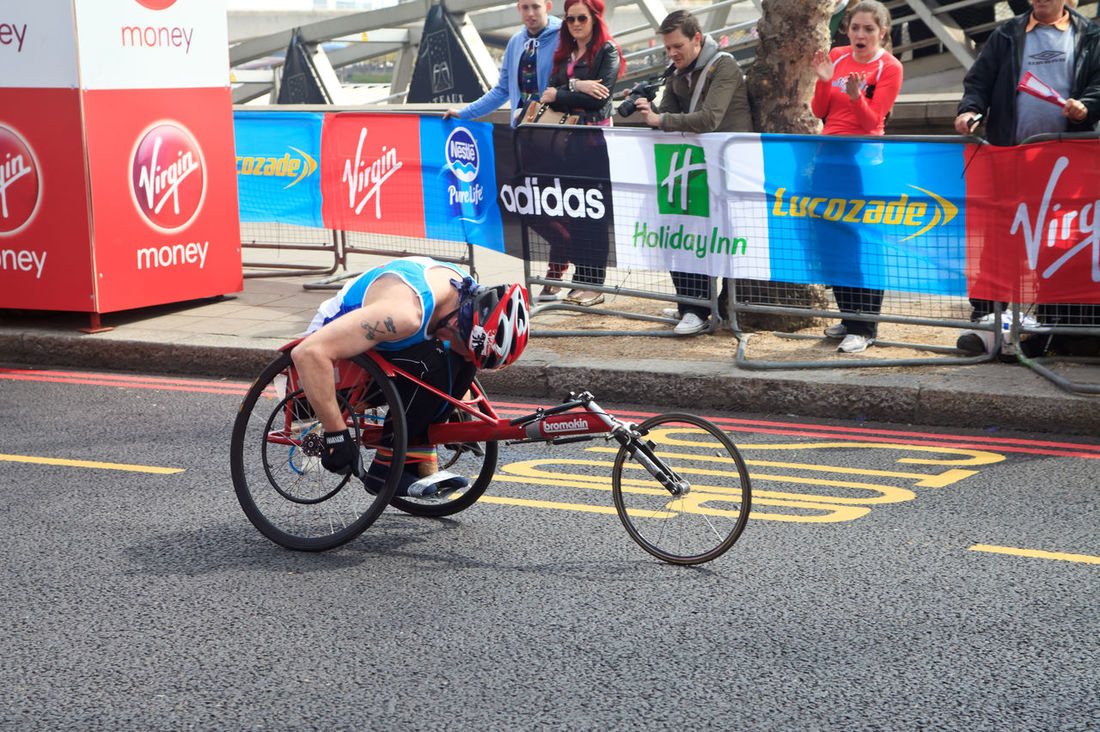 Wheelchair racer at 32nd London's Marathon, London, UK Adult Adults Only Athlete Charity Choice Day Full Length Healthy Lifestyle London London Marathon Marathonrunner Men Outdoors People Runner SponsorOficial Sportsman Street Text Track And Field Athlete Uk Virginia Wheel Wheelchair Wheelchairs