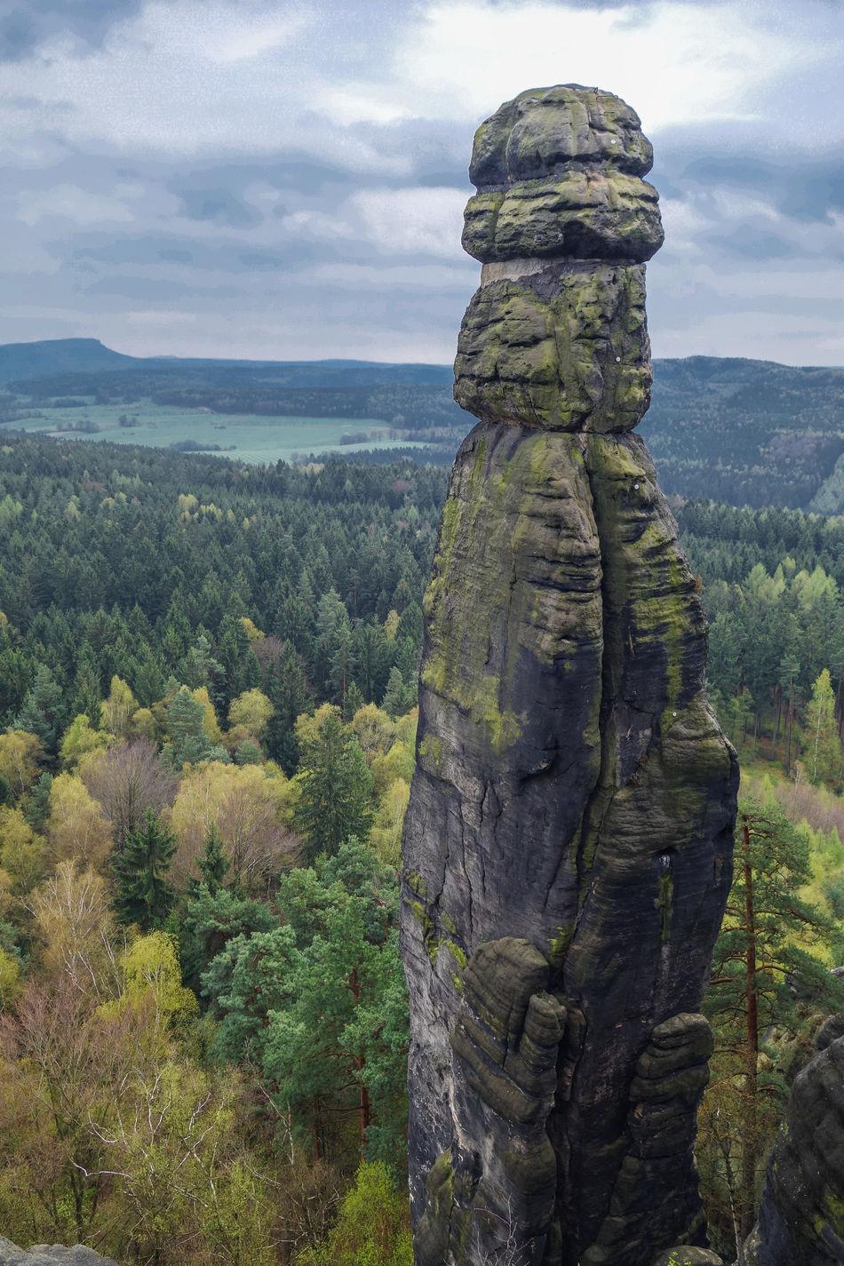 Barbarine Beauty In Nature Cloud - Sky Day Gernany Mountain National Park Nature No People Outdoors Rock - Object Saxon Switzerland Sculpture Sky Statue Sächsische Schweiz Tree