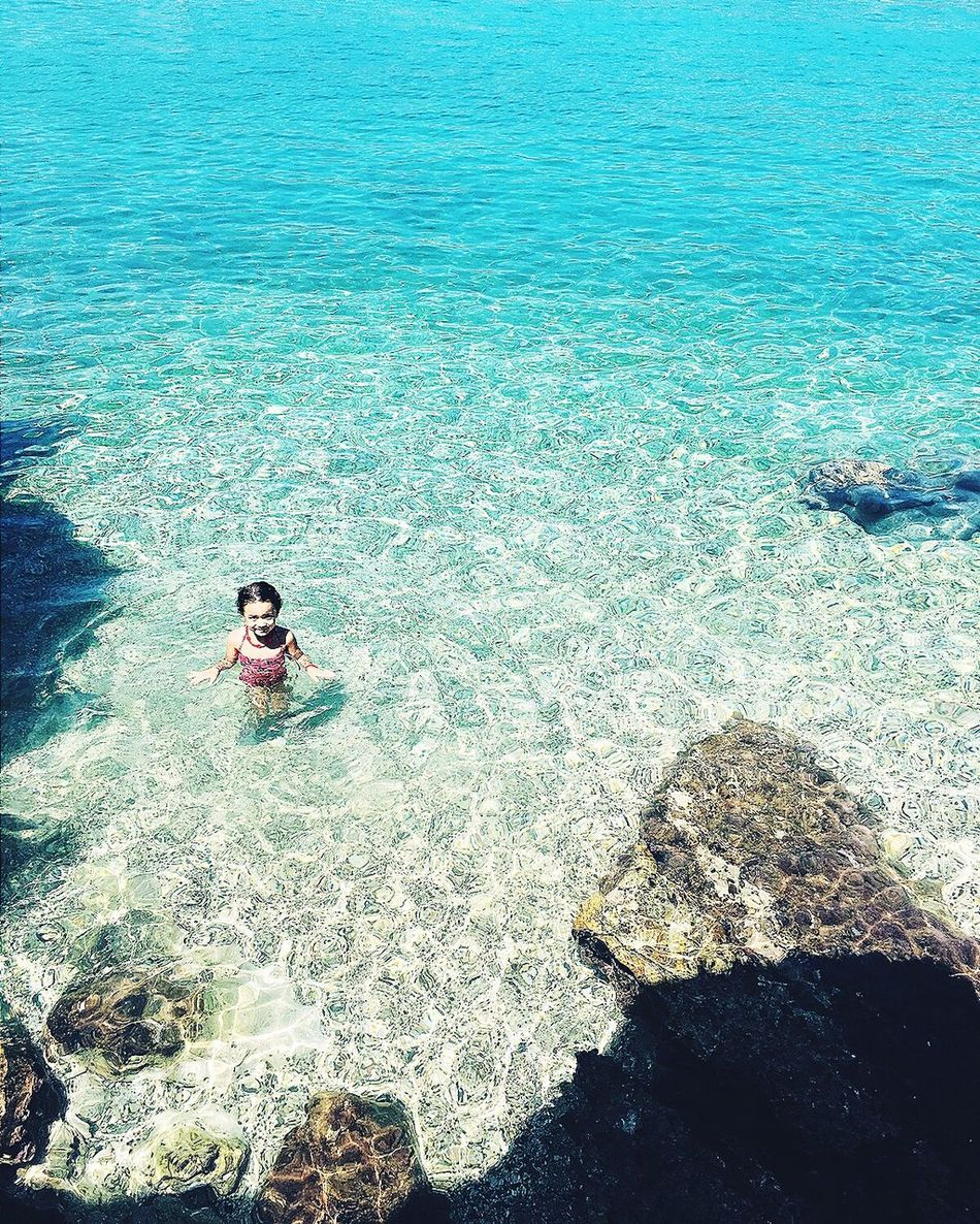 Beauty In Nature Swimming Sea Littlesister Beach Blue Personal Perspective