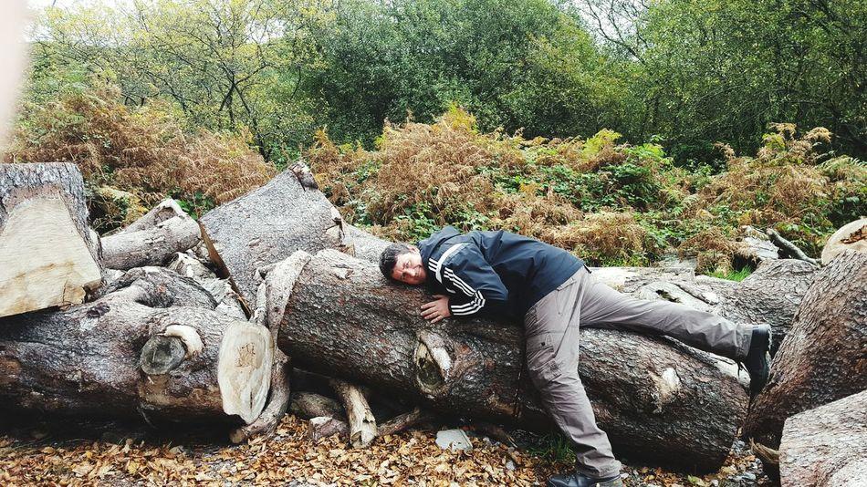 Hugging A Tree Walking Around Relaxing Taking Photos