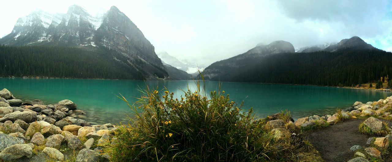 Lake Water Mountain Nature Tree Outdoors Beauty In Nature Scenics Travel Destinations Sky No People Reflection Lake Day Lake Louise,Alberta Lake Louise  Alberta EyeEmNewHere Reflection Water Reflection Travel Photography Canada Glacier Rocks Rocks And Water Rocks In Water