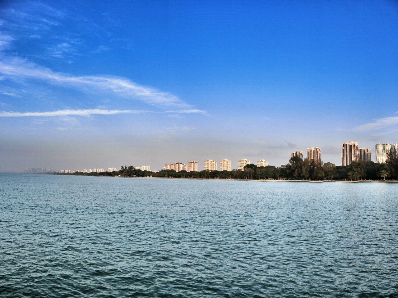Waterfront Buildings Along Coastline