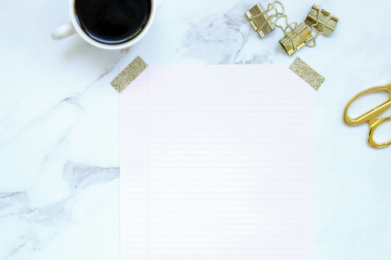To do Blank Paper Business Coffee Desk Desk From Above Desktop Desktop Background Diary Directly Above Elegant Gold Marble Minimalism No People Note Pad Notes Office Supplies Paper Study Table Tape To Do Work
