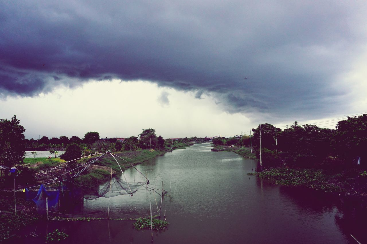 sky, cloud - sky, water, nature, no people, outdoors, landscape, beauty in nature, tree, day