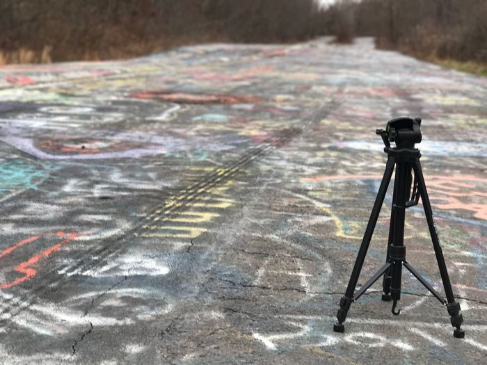 Abandoned Tripod - Graffiti Highway in Centralia, PA. No People Outdoors Day Centralia Pennsylvania Centralia Centralia Pa Abandoned Abandoned Places Abandon Abandoned Highway Still Life StillLifePhotography Still Life Photography