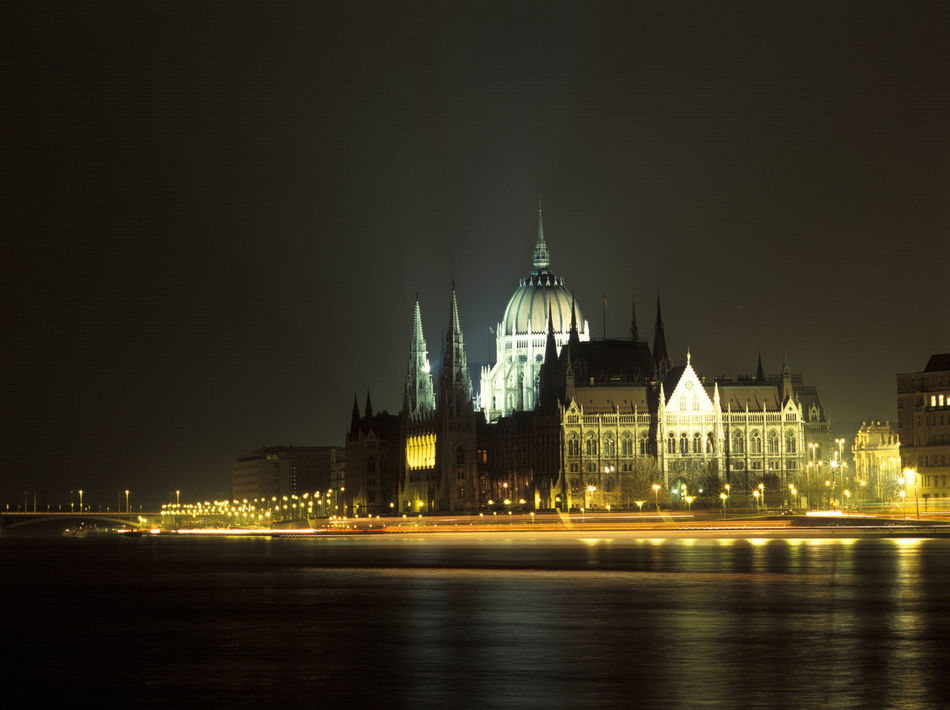 Budapest - Parlament by night 1 Architecture Building Exterior Built Structure City Life Clear Sky Famous Place History Illuminated Night No People Outdoors Parlament Budapest Budapeste Hungary Hungria Gold River River View Sea Sky Spire  Tourism Travel Destinations Water Waterfront