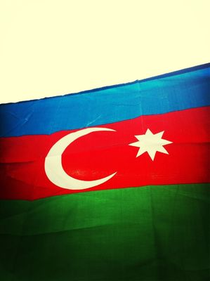 flag at Tofig Bahramov Stadium by ❤ AYGUN ❤