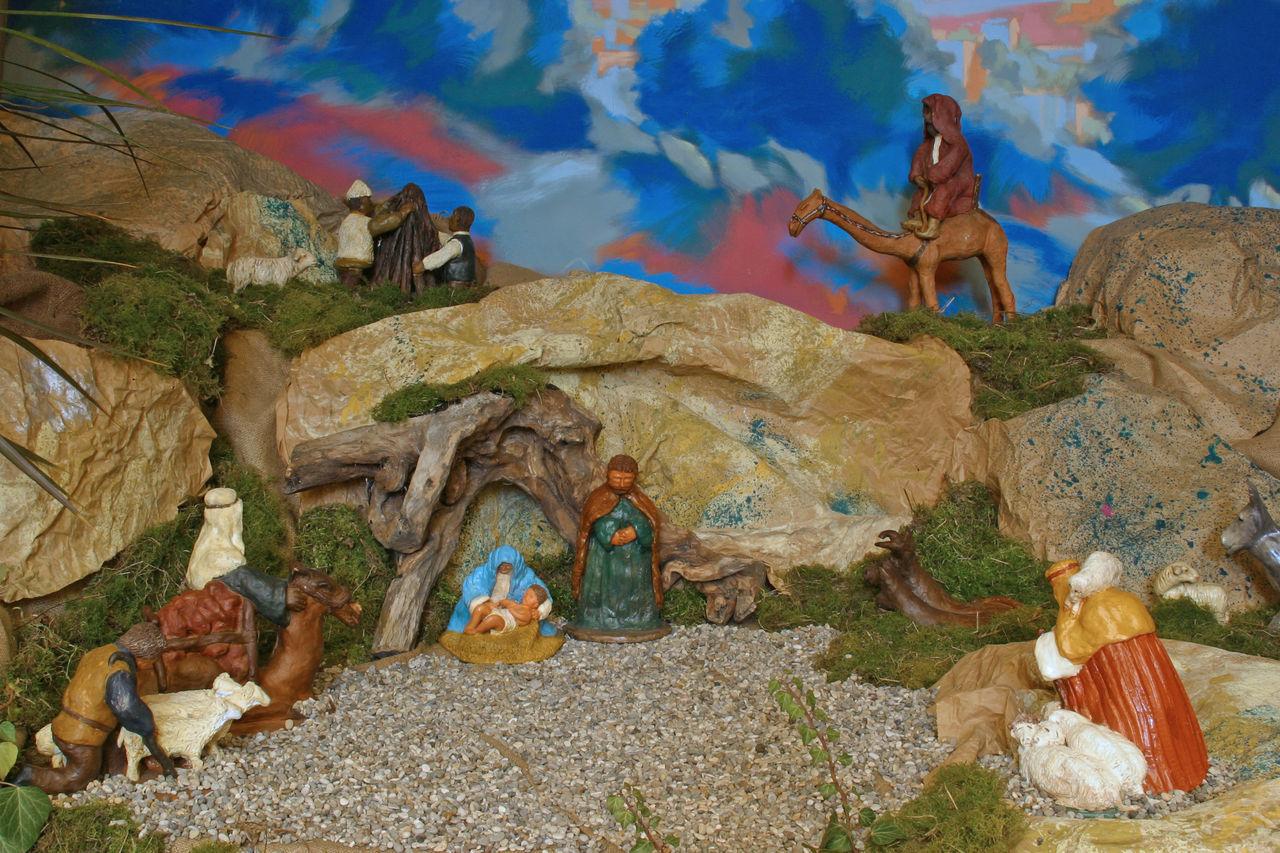 Nativity Scene Angel Bethlehem Christmas Creche Creche Faith God Holy Jesus Joseph Kings Magi Manger Men Mother Nativity Peace Religion Religious  Saint Scene Shepherds Spiritual Virgin Mary Wise