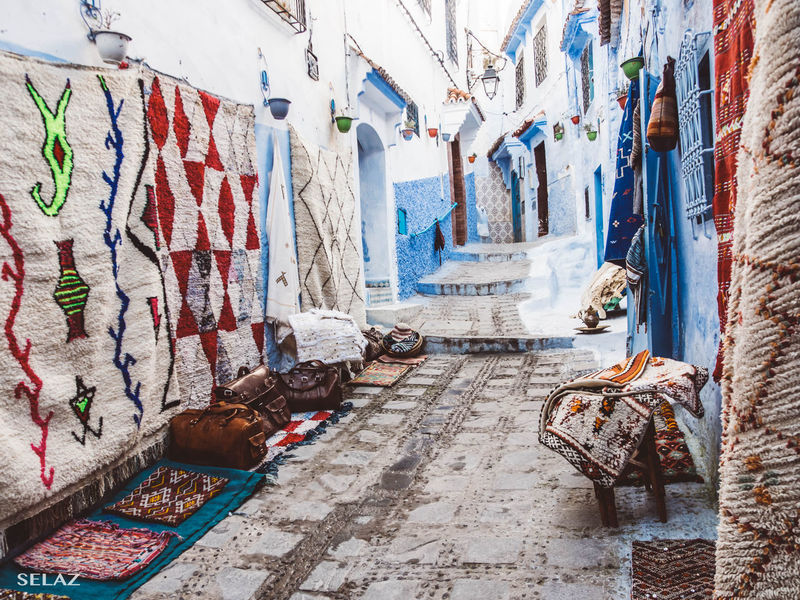 Streets of a magical village... No People Hanging Morocco Travel EyeEm Photography Olympus Om-d E-m10 Moroccan Multi Colored Day Alfombras Chauen Photooftheday Photograpgher Andalusian Architecture Andalucía Photoblogger Photo Of The Day Outdoors Lifestyles