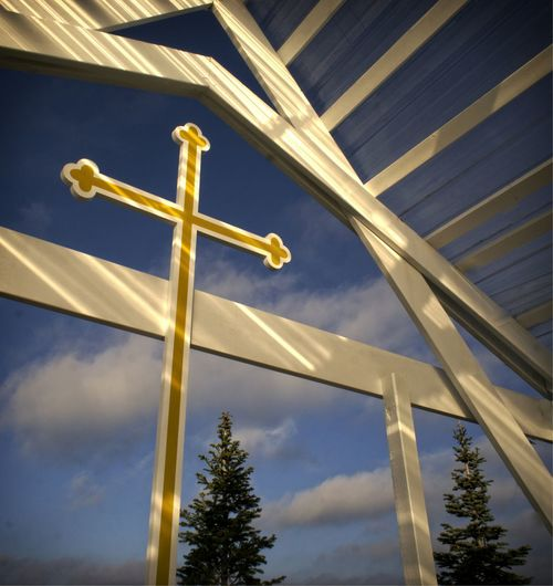 Michigan Shelter Light And Shadow Meditation Outdoor Inspiration Blue Sky Cross Light And Shadows Orthodox Church