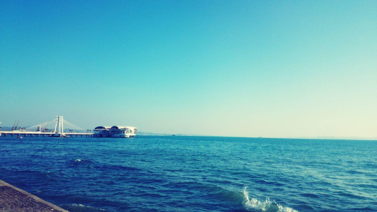 Sea Blue Clear Sky Durres Al