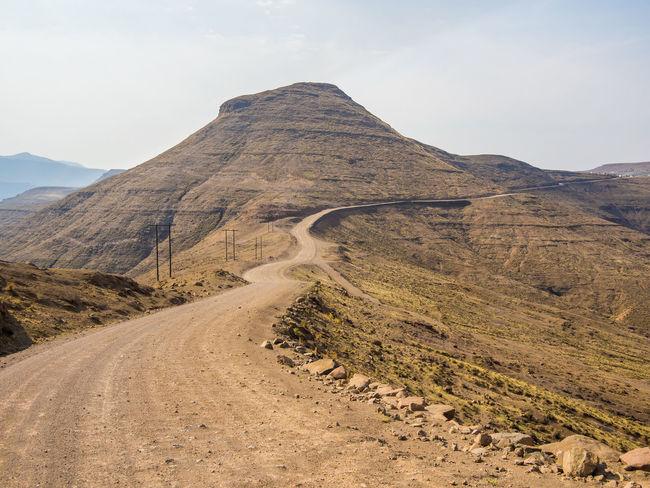 Dangerous Danger Pass Offroad Curvy Road Lesotho Mountain Pass Mountain Range Mountain Africa
