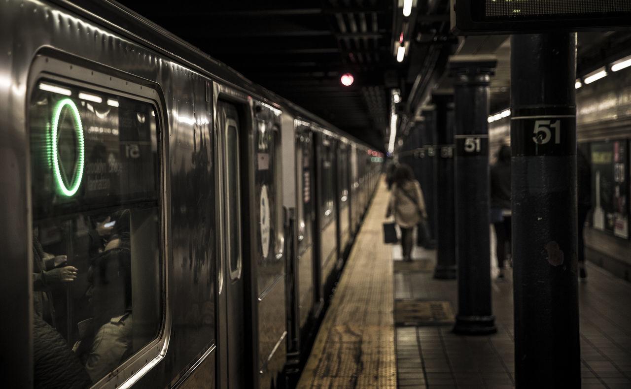Undergroundsound 51st Street Column Metro New York City Refraction Subway Station Thinking Train The Street Photographer - 2017 EyeEm Awards Neighborhood Map BYOPaper!