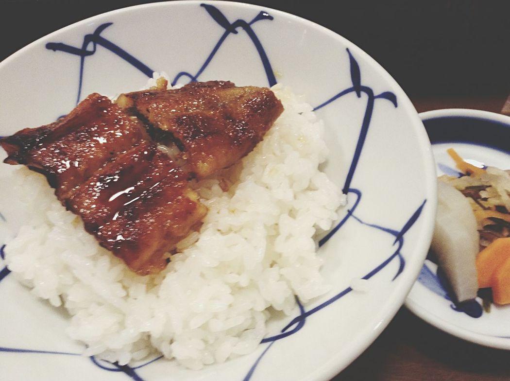 ちょっと早めの 夜食テロ What's For Dinner? Unagi Eel Foodporn Japanese Food IPod Touch Photography Isahaya City
