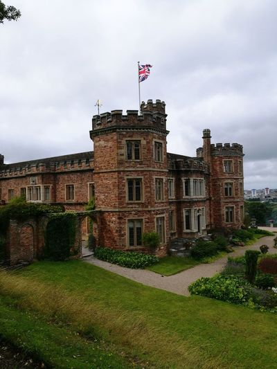 Architecture Flag Building Exterior Cloud - Sky Government History Built Structure Politics And Government Patriotism No People Day Travel Destinations Outdoors Sky Politics Grass Mount Edgcumbe House
