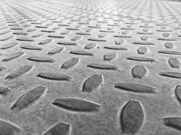 Industrial Minimal Landscape Metal Diamond Plate Grey Gray Backgrounds Barren Low Angle View No People Steel Pattern Patterns