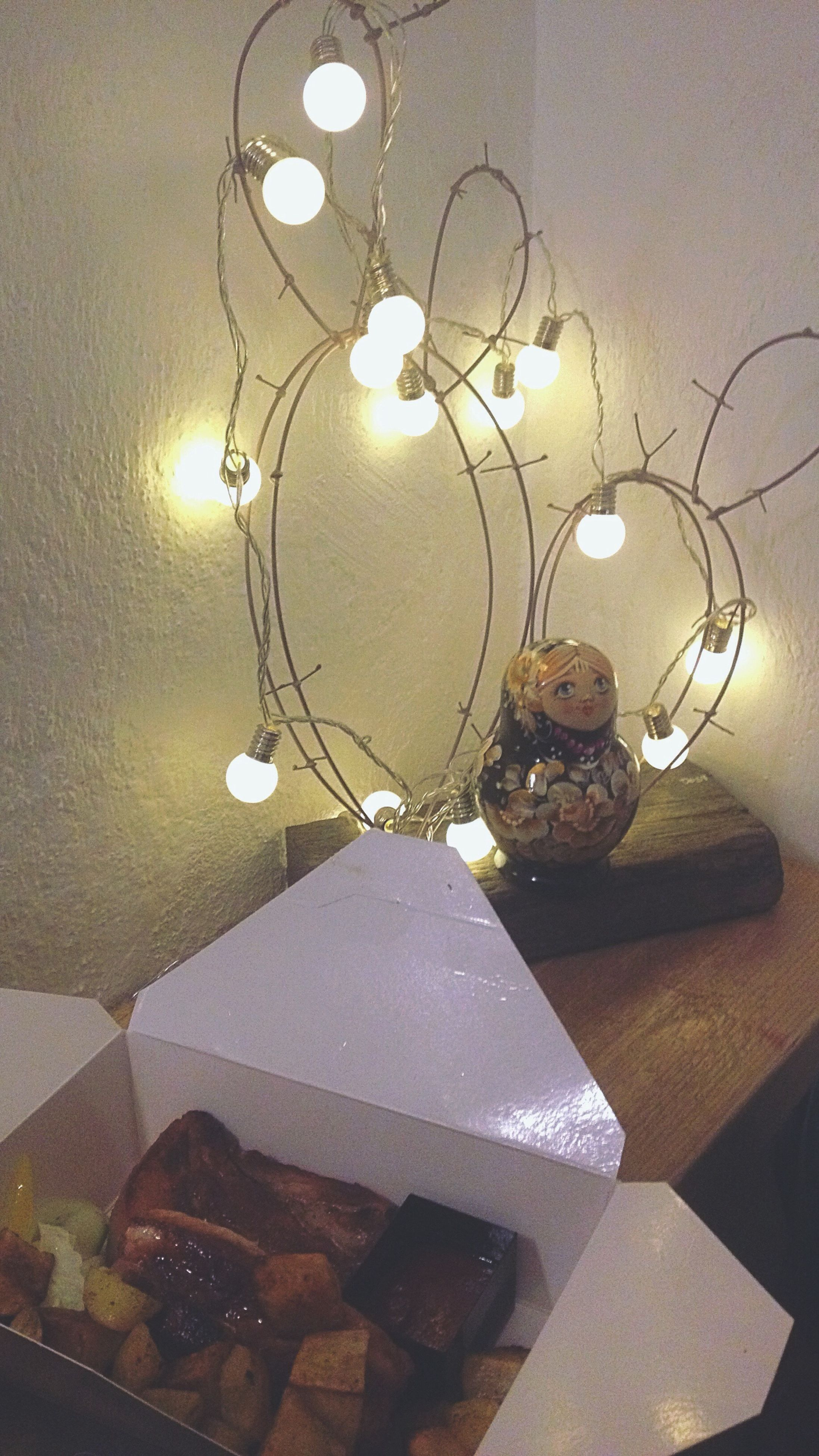 illuminated, indoors, lighting equipment, decoration, electricity, electric light, reflection, glowing, decor, circle, man made object, no people, lit, geometric shape