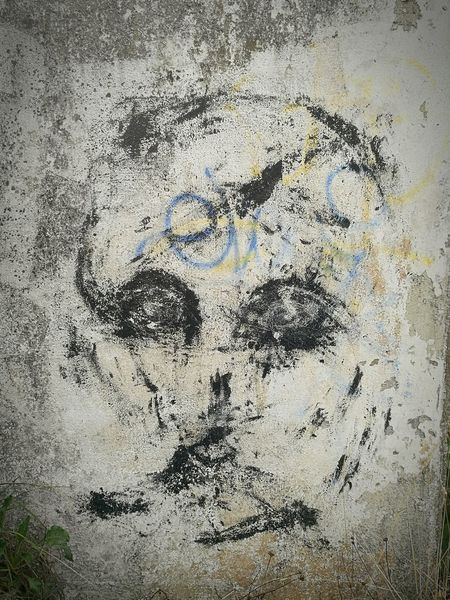Creativity Alien Eyes Graffiti No People Wall Simplistic Rough Texture Hidden Away Old But Awesome