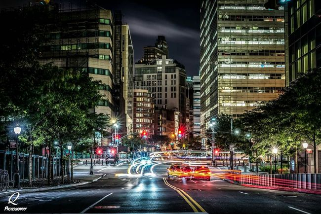 Long Exposure Nightphotography OpenEdit New York Streetphotography Light Trails Cars Lower Manhattan Rsa_streetview Rsa_photo_of_the_day