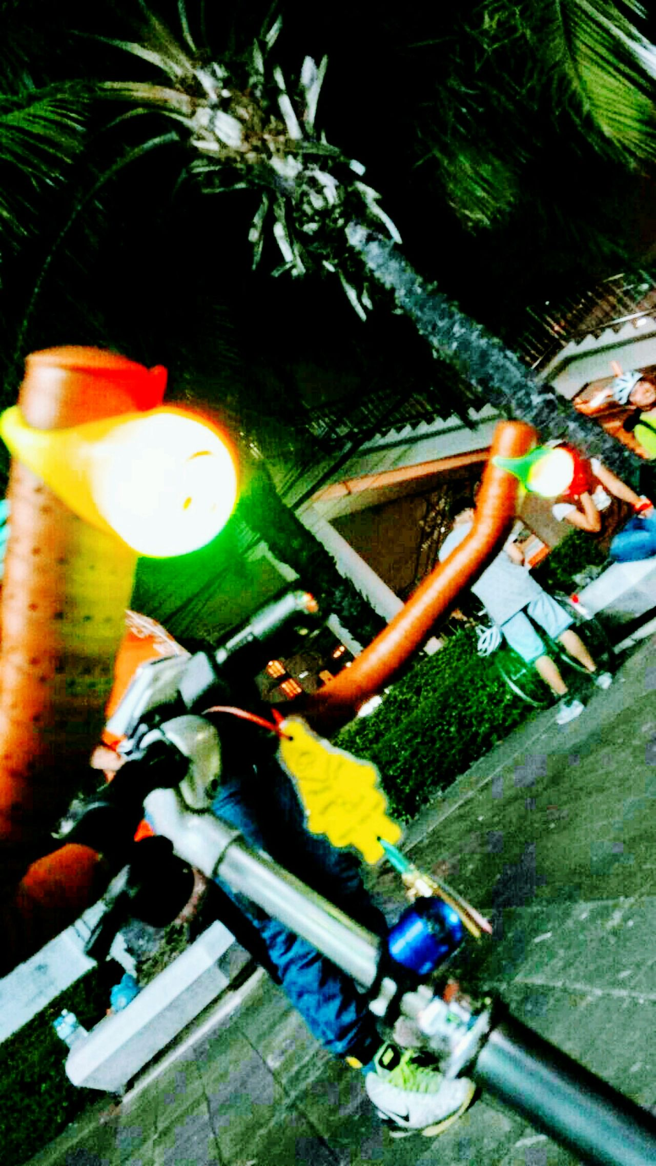 Bicycle Bicycle Parking Bicycle Handlebar Outdoors Close-up Focus On Foreground Multi Colored Low Angle View Travel Destinations Travelling Thailand Full Frame Scenics Landscape No People Night Night Lights Nightphotography Light Lighting Equipment Light In The Darkness Lighting Enjoying Life Hello World Beauty In Nature Nature