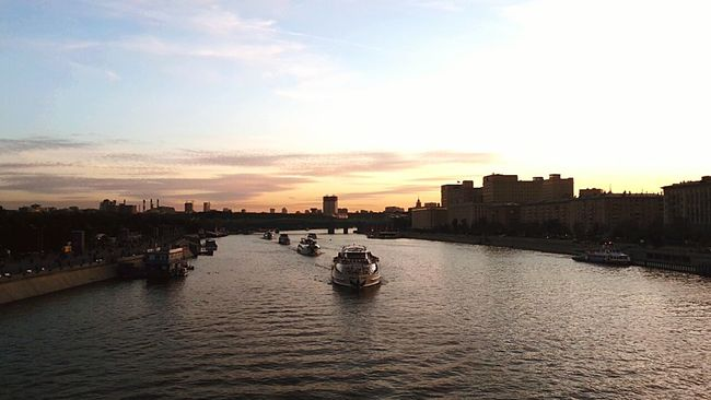 Russia City Capital Moscow Walking Sundown Sky River Check This Out