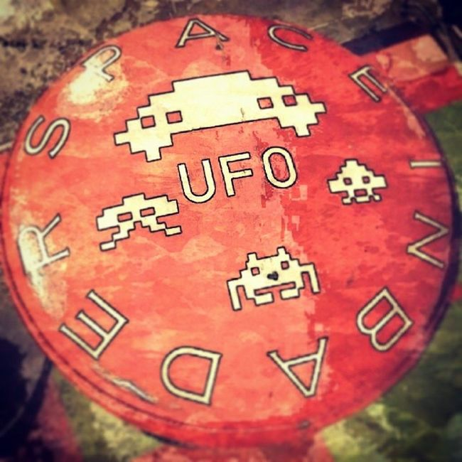 Take a seat Arcade Odiba Tokyo Japan spaceinvaders stool stool awesome filter paperartist