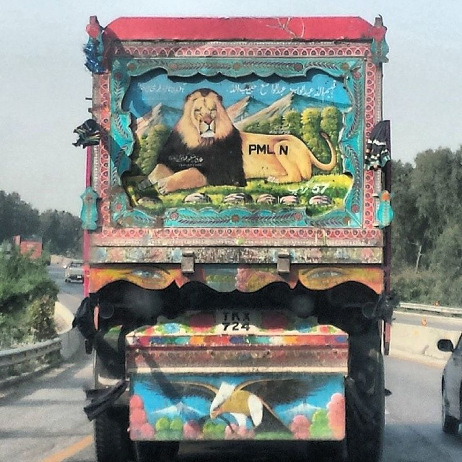 PMLN truck :p PMLN NawazSharif Shareef Islamabad pakistan truck vehicle politics promo campaign