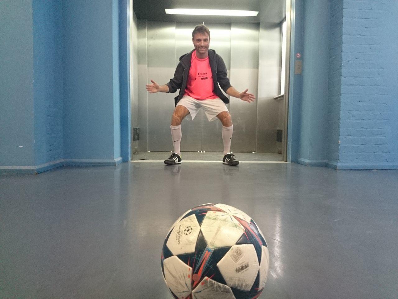 Beautiful stock photos of soccer balls, Ball, Casual Clothing, Caucasian Ethnicity, Corridor