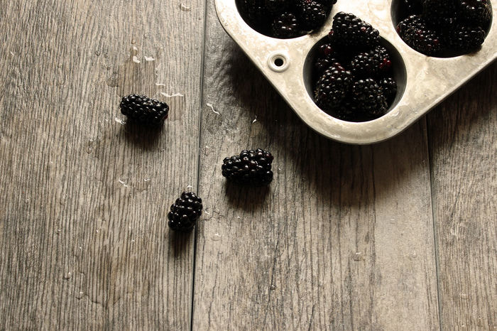 Blackberries Background Berries Blackberries Concept Copy Space Food And Drink Fruit Harvest Healthy Eating Juicy Kitchen Table Mock Up Nutrition Organic Produce Purple Ripe Rustic Silver  Styled Tarnished Top View Vintage Wood