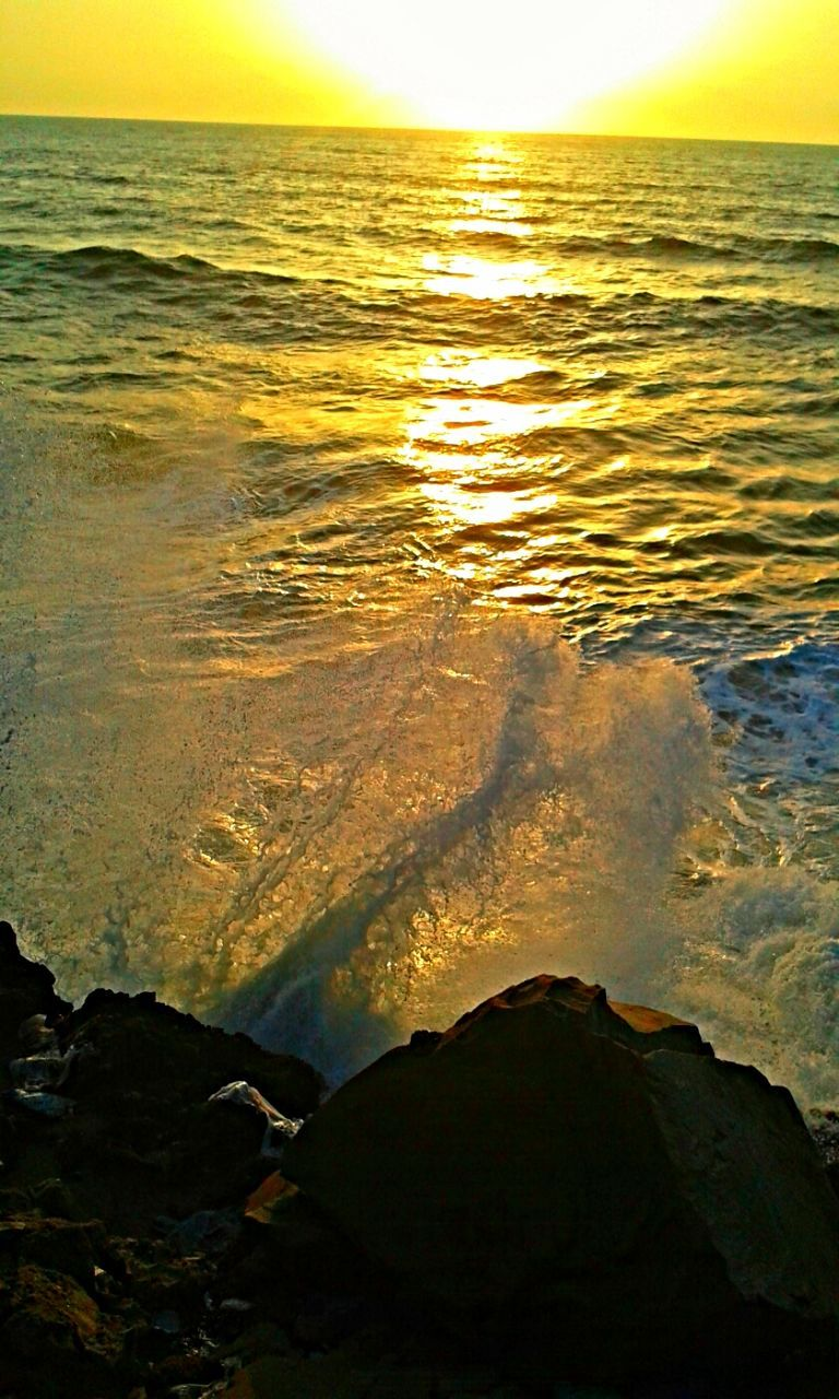 water, sea, sunset, nature, beauty in nature, scenics, tranquility, tranquil scene, outdoors, no people, horizon over water, beach, wave, sky, close-up, day
