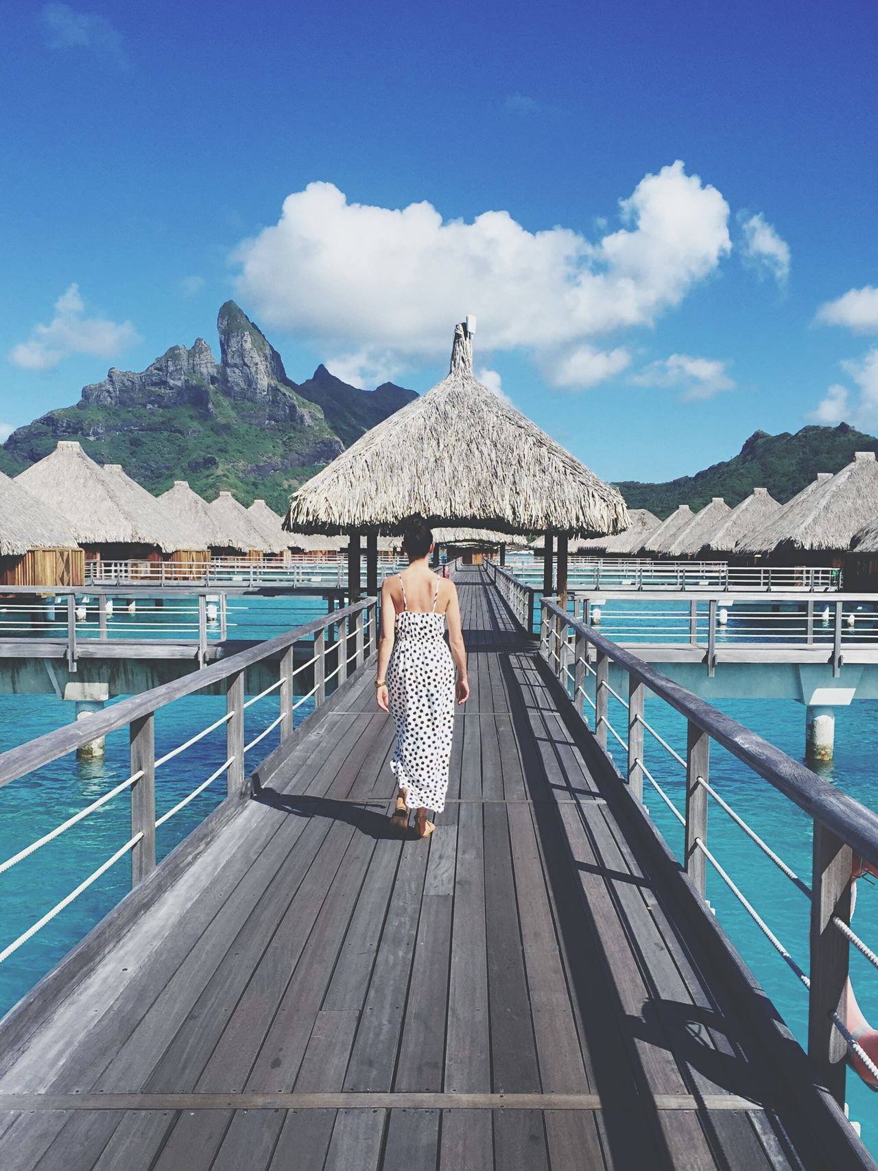 The Traveler - 2015 EyeEm Awards Morning stroll in paradise. Paradise Bora Bora  Walking Away