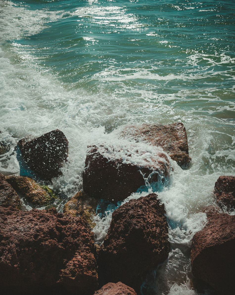 Sapphire Sea Backgrounds Beach Close-up Green Water Nature Ocean Rocky Rocky Waters Sea Turqoise Water Water Wave Waves And Rocks Waves Crashing On Rocks First Eyeem Photo