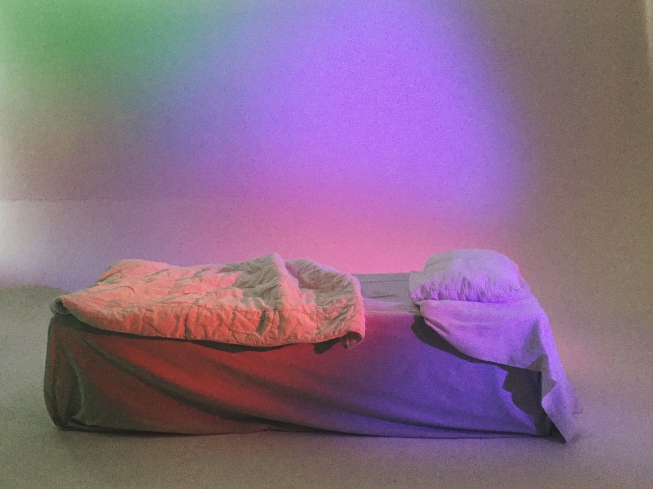 Pink Color Indoors  No People Bed Bedroom Close-up Minimalism Colors Colorful Studio Shot Still Life Goodnight Day Bedcover