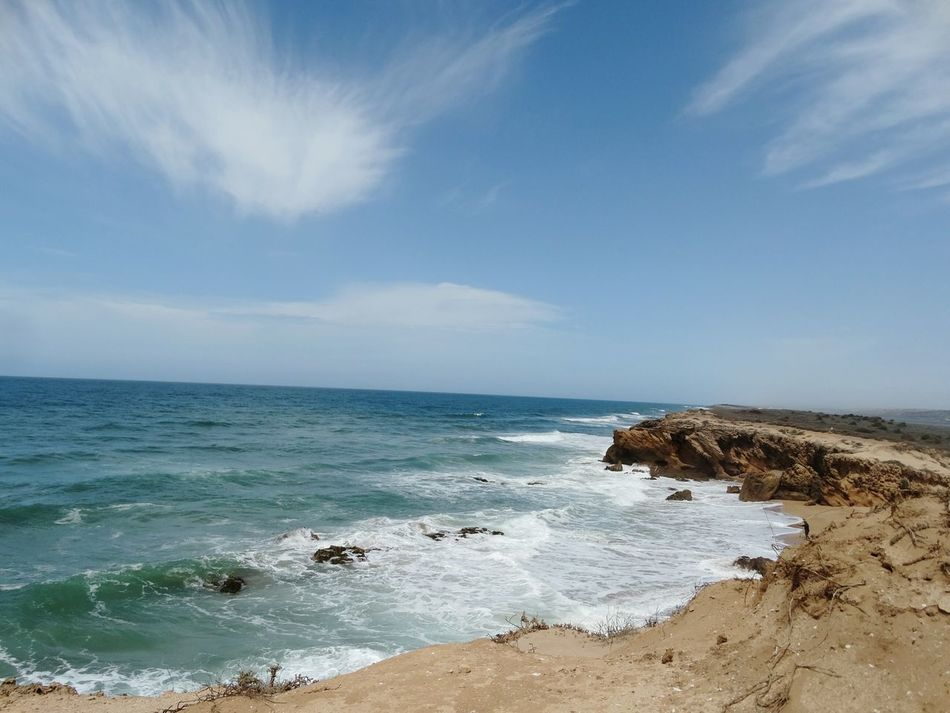 Beautiful ocean. Fine Art Photography Oualidia Beach Oualidia Morocco Africa Water Sunshine Beach Day Waves & Rocks Wave Foam Summer Blue Wave Ocean Waves Beach Shore Rocks And Water Landscape Ocean View Nature Nature Photography Eyem Gallery Wave And Beach Blue Water