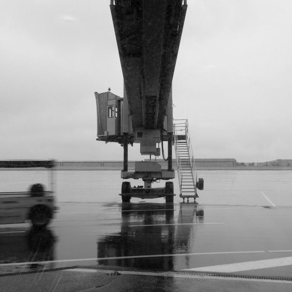 Airplane Blackandwhite Day Hannover No People Outdoors Rain Transportation Traveling Wet