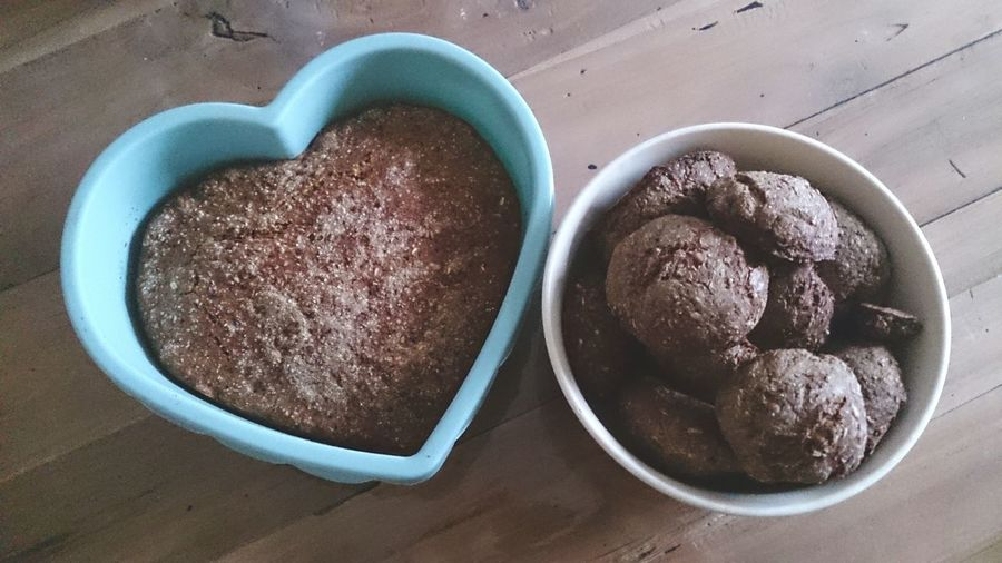 Heart Shape High Angle View Love Food No People Freshness Close-up Day Bread Backing Bread  Healthy Eating Healthy Food Healthy Lifestyle DIY Vollkorn