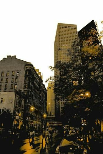 Downtown Minneapolis firs time in America Busy Street American Life Welcome To Black