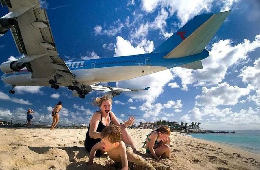 Taking Photos Airplane BEACH!  Awesome
